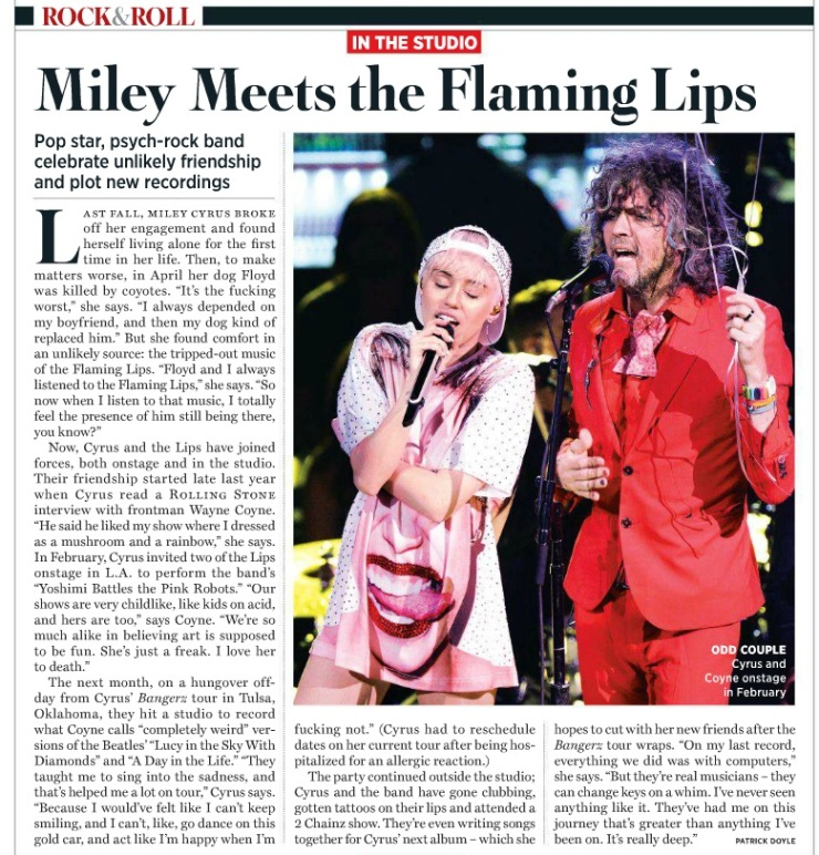 Miley Meets the Flaming Lips